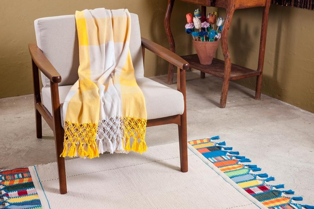 Línea de productos de Santa Luzia Redes e Decoração desarrollados con el algodón colorido de Paraíba.